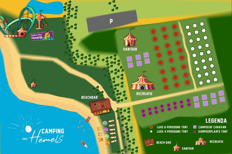 Plattegrond Camping Hemels
