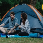 Hemelse kampeerplek tent